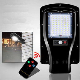 Wholesale Solar Led Road Light - Newest All in One Remote Control 60LEDs 30W Solar Power LED Street Light Outdoor Road Garden Wall Lamp