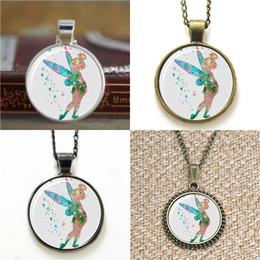 Wholesale Wholesale Glass Bells - 10pcs Tinker Bell Glass Photo Necklace keyring bookmark cufflink earring bracelet