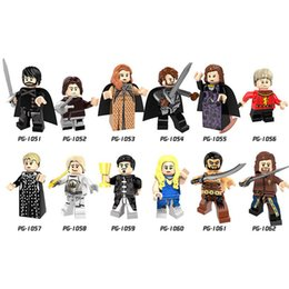 Wholesale Game Blocks - Game of Thrones Minifig Jon Snow Jaime Daenerys Robb Tyrion Catelyn Tully Cersei Figures PG8072 Mini Building Blocks Figures OTH163