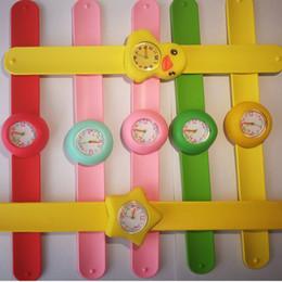 Wholesale Slap Watch Mixed - Children animal silicone watches Boys girls cartoon Slap Snap watches Kids Gift Quartz watch Mix styles