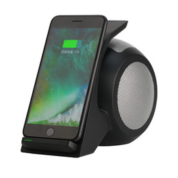 Wholesale mp3 player holder - Unique Snail Shaped 3 in 1 Bluetooth Speaker WN1 wireless quick charge & phone Holder Portable NFC Subwoofer with MicPhone Qi Charging Stand