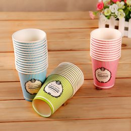 Wholesale Hotel Catering - Wholesale- 50Pcs Candy Colors Disposable Paper Cups Wedding Birthday Party Table Decor Home Hotel Festive Events Catering Tools Supplies