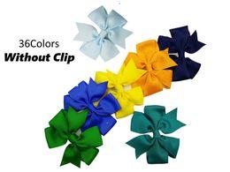 "Wholesale Diy Ribbon Bow Hair Clip - (WITHOUT CLIP) 3"" Grosgrain Ribbon Bow Beautique Pinwheel Bow DIY HairAccessories 100pcs"