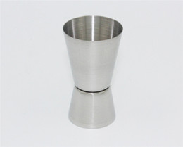 Wholesale metal jigger - New Arrive Barware 20 - 40ml 2-End Jigger Shot Measure Cup Cocktail Drink Wine Shaker Stainless Bar
