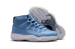 Wholesale Beige Gift Box - Mens Basketball Shoes Retro 11 Ultimate Gift of Flight Sky Blue Mens High Top Sneakers Basketball Shoes XI Athletic Sports Shoes Size 40-47