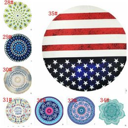 2019 tapiz americano 34 Diseño Redondo Mandala Toallas de playa Alfombras Tapices de mandala de piña Bandera americana Elefante Bikini Cover Up Blanket rebajas tapiz americano