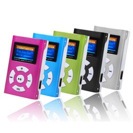 Wholesale Sd Mp3 Recorder Player - Wholesale- Hifi Player USB Mini MP3 Player LCD Screen Support 32GB Micro SD TF Card Mp3 Player Lcd