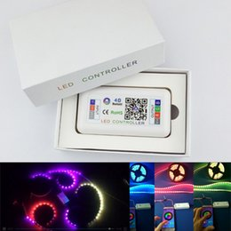 Wholesale magic led strip lights - led strip bluetooth 4.0 controller Magic controller with 200kinds of patterns for RGB strip light 12-24v Phone Control