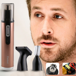 Wholesale Beard Nose Trimmer - 3 in 1 Multi Electric Shaving Nose Ear Eyebrow Hair Trimmer Safe Face Care Sideburns Trimming Shaving Razor for Man and Woman