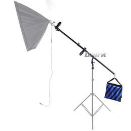 Beleuchtung boom arm online-ASHANKS Multi Funktion 2 in 1 Reflektor Arm Halterung als Top Boom Arm Licht Stand Kits für Studio LED ideo Light Softbox