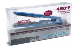 Wholesale Hot Iron Straightener - Hot PRO 450F 1 1 4 plates babe liss plate Hair Straightener Straightening Irons Flat Iron DHL free fast ship