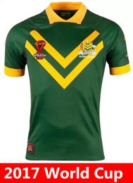 Wholesale Hot Australian - Hot sales Australia 2017 World Cup NRL Jersey rugby shirt 17 18 Australian rugby Jerseys Top Quality shirts s-3xl