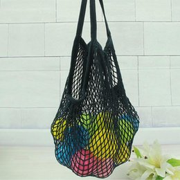 Wholesale Food Sundries - Multifuction Fruits Vegetable Foldable Shopping Bag String Cotton Mesh Pouch For Sundries Juice Storage Bags ZA4199