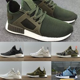 Wholesale Kids Drop Ship - New NMD XR1 Boost Duck Camo Navy White Army Green for Top quality MND Men Women Kids Casual Shoes Drop Free Shipping 36-44