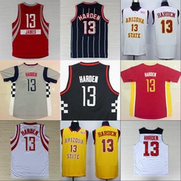 Wholesale 13 Basketball Jersey - MENS Basketball Jerseys James Harden Arizona State Sun Devils College Stitched Men's #13 James Harden Jersey Yellow Red White