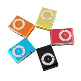 Wholesale 8gb Mp3 Player Only - Wholesale- Free Shipping metal mp3 Mini clip,music player Players,support top 8gb micro sd card! 1pcs lot protable mp3 (Only MP 3)