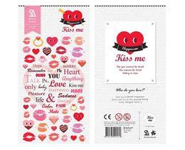 Wholesale Korean Diary Stickers - Wholesale- 1 PCS Love Lip Korean Sonia Stickers Cellphone Decal Diary Calendar Decorative Sticker Flakes 2020