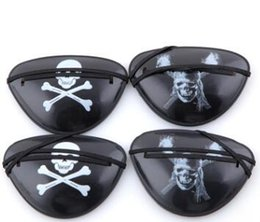 Wholesale Kids Plastic Party Bags - Pirate Eye Patch Skull Crossbone Halloween Party Favor Bag Costume Kids Halloween Toy Craft Gifts Wholesale
