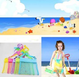 Wholesale Buggy Pouch - 20 Colors Kids Toys Beach Mesh Bags Sand Water Away Tote Pouch Handbag Buggy Storage Bag Mesh Shell Beach Bags Sandpit Beach Receive Bag