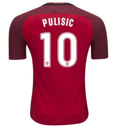 Wholesale Cheap Kids Cups - 17-18 Pulisic #10 National Team Red Soccer Jersey,2018 World Cup Jersey,Customized Soccer Top Thai Quality,Kid Cheap Soccer Jerseys Discount
