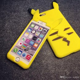 Wholesale Phone Case Rubber Cartoon - 3D Poke Pikachu Soft Silicone Case For Iphone 6 6S Plus I6S 5 5S Samsung Galaxy J1 J3 J5 J7 2016 Grand Prime Duos Cartoon Rubber Phone Cover
