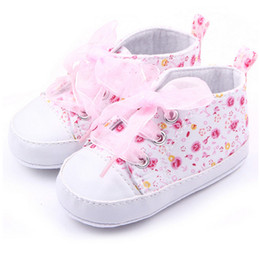 Wholesale Girls Canvas Shoes Floral - New 2017 Spring Canvas Children Shoes Baby Kids Girls Cotton Floral Infant Soft Sole Shoes Toddler First Walker 3 Colors