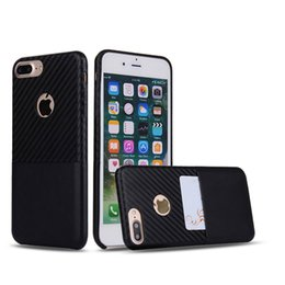 Wholesale Tough Leather Wallet Wholesale - Ultra Slim Thinnest Leather Case Cover for Apple iphone 6 6S 7 Plus Shockproof Tough Protective Shell with Credit Card  Cash Holder