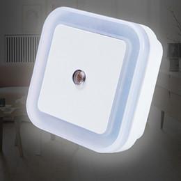 Wholesale Plug Mini Night Lights - DHL Free Shipping Mini Lamp EU USA AU Plug LED 0.5W Night Light Auto Sensor Bedroom Lamp AC110-220V LED Light For Gift