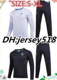 Wholesale Long Jacket Men S Suits - 20 17 2018 Real Madrid survetement football tracksuits training suits 17 18 soccer jacket Long pants wear sets RONALDO RAMOS