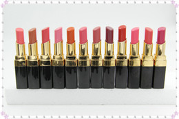 Wholesale Rouge Lipsticks - 12pc New makeup C Lipstick Hydrating lipstick CREME LIP 12 Diff COLOUR Rouge 3G Free Shipping