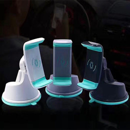 Wholesale Cell Phone Car Mount Vent - 2 in 1 Mini Windshield Car Mount Holder 360 Rotating Air Vent Sunction Kickstand For Mobile Cell phone holder OTH512
