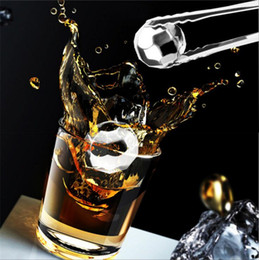 Wholesale Stainless Steel Whiskey Stones - New Stainless Steel rhombus Models Ices Stones Magic Ice Cubes For Whiskey Stone Ice Cubes I104