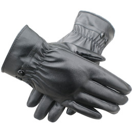 Wholesale Uk Nylon - Wholesale- FS Hot UK Women Winter Thermal Lined Driving Smart Warm Soft Leather Gloves Button Fasten