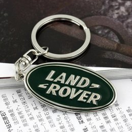 Wholesale Freelander Range Rover - 3D metal Emblem Car Logo Keychain for Land Rover Freelander 2 Range Rover A8 A9 Discovery Key Ring Chain Key Holder Car Styling