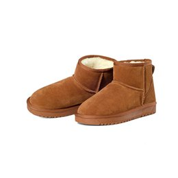 Wholesale Ankle Shoes For Women - Genuine Leather Snow boots 7 Colors zapatos mujer Ankle Boots for Women Winter Boots botas femininas Winter Shoes SN623-75