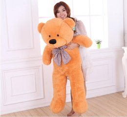 Wholesale Plush Coloured Teddy Bears - TEDDY BEAR plush Dolls Giant Jumbo Big Teddy Bear Birthday Gift Right-angle Measurements Plush Soft Toy 5 colour