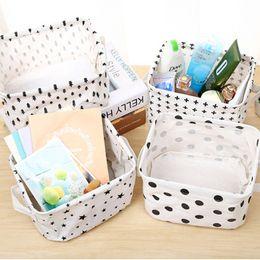 46210482e0 5pcs Waterproof Cotton Linen Creative Toy Clothes Storage Basket Bra  Necktie Socks Organizer Cosmetic Phone Charger Storage Bag Bins