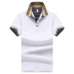 Wholesale Men Breathable Clothes - Summer Fashion Mens Short Polo Shirt Brand Plus Size M-5XL Cotton Shirt Men Slim Fit Brand Clothing Black Solid Polo Shirt