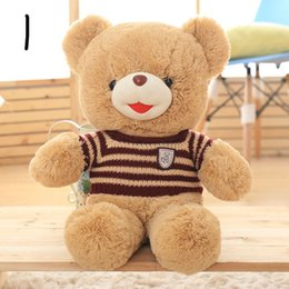 Wholesale Teddy Smiling - New Arrived Smile Teddy Bear Plush Toy Teddy Bear With Sweater Birthday Gift Factory Supply