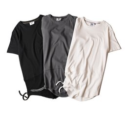 Wholesale Men Plain Black T Shirts - Men's T-shirt fashion new street rock European and American style T-shirt plain cotton short sleeved T-shirt