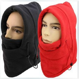 Wholesale Wholesale Fleece Hats Scarves - 9Color Outdoor Sports Neck Fleece Breathable Balaclavas Hat Headgear Winter Skiing Ear Windproof Warm Mask Motorcycle Bicycle Scarf b272