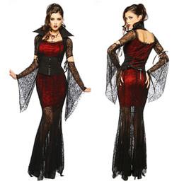 Vampiro cosplay sexy online-Costume sexy gotico Costume da Halloween Costume da strega sexy Costume da donna in maschera da travestimento Cosplay