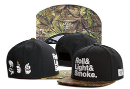 Wholesale Cotton Balls Lights - Cayler & Sons ROLL&LIGHT&SMOKE leaf Baseball Caps Bone Casquettes chapeus hip hop Snapback hats For Men High Quality Adjustable