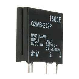 Wholesale Dc Ssr - Wholesale- New Electric Unit High Standard G3MB-202P DC-AC PCB SSR In 5VDC,Out 240V AC 2A Solid State Relay small size and reliable