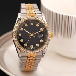 Wholesale Gold Flowered Watch - Newset 38MM Gold Men woman diamond flower watches brand luxury nurse ladies dresses female Folding buckle wristwatch gifts for girls