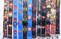 Wholesale Key Id Neck Strap Lanyards - New Marvel Movies Avengers Superheros Cello Phone key chain Neck Strap Keys Camera ID Card Lanyard Y-011