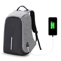 Wholesale Waterproof Business Backpack - 2017 Fashion Anti-theft Business Laptop Backpack With USB Charge Port ,Lightweight Outdoor Waterproof Travel College Backpack