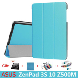 "Wholesale Tablets Sale Bundles - Sale High Quality Pu Cover Case Magnetic Folio Stand Protective Shell for Asus Zenpad 3s 10 Z500m Z500 9.7"" tablet Case"