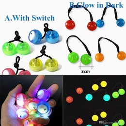 Wholesale Flashing Yoyo - Fidget spinner toys LED Thumb Chucks Bundle Control Roll GameYo-yo Skill toy Fidget Toys Finger Yoyo Anti Stress Toys Glow in Dark