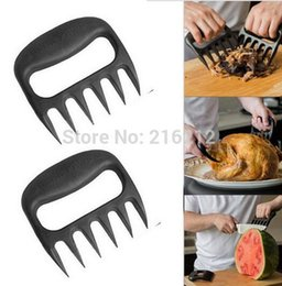 Argentina Grizzly Garras Meat Handler Fork Tongs Pull Shred Pork BBQ Barbecue Tool cheap pulled pork bbq Suministro